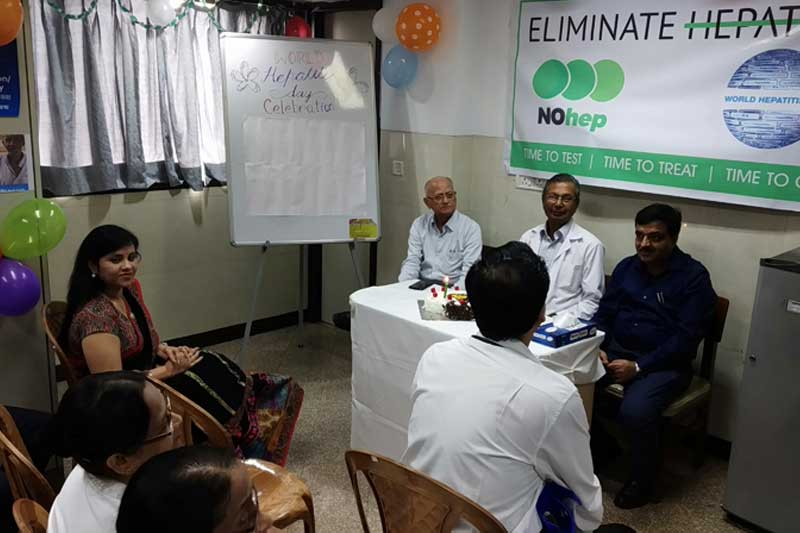 World Hepatitis Day celebration in Bellevue clinic 2019